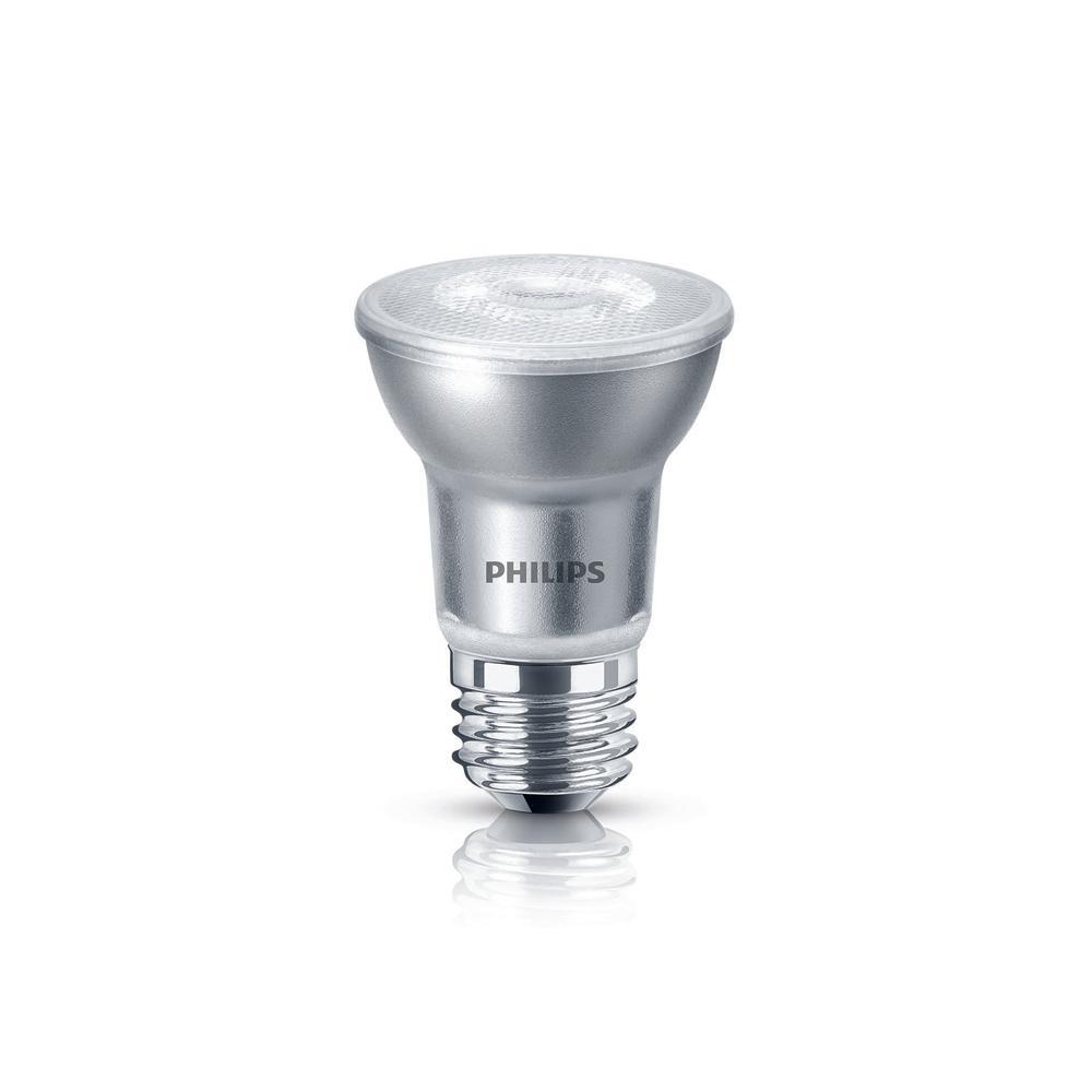 50-Watt Equivalent PAR16 Dimmable LED Light Bulb Glass Bright White (3-Pack)