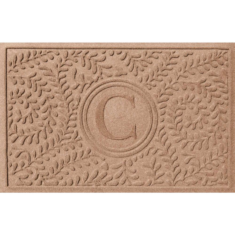 Boxwood Medium Brown 24 in. x 36 in. Monogram C Door