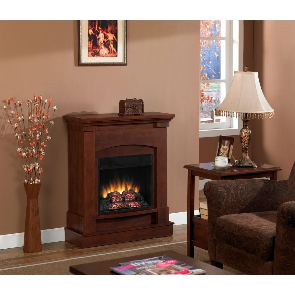 Chimney Free 31 in. Compact Electric Fireplace in Cherry-DISCONTINUED