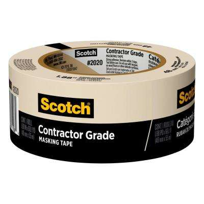 Scotch 1.88 in. x 60 yds. Contractor Grade Masking Tape