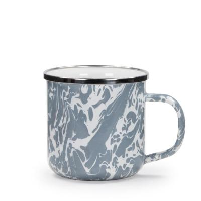 Grey Swirl 12 oz. Enamelware Coffee Mug