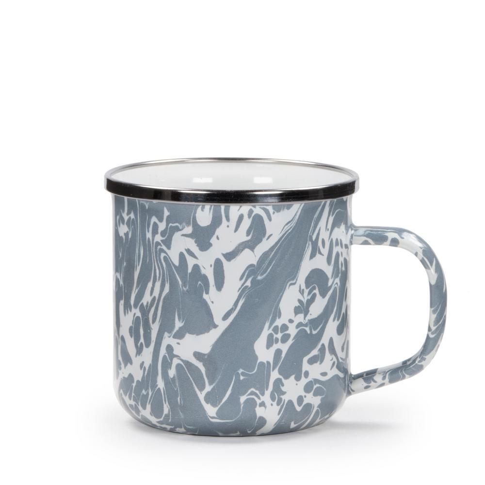 Coffee 12 Grey Swirl Mug OzEnamelware dCreWoxB