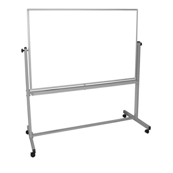 Luxor 60 in. x 40 in. Double Sided Magnetic Mobile Whiteboard