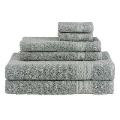 Solid 6-Piece Moss Towel Set