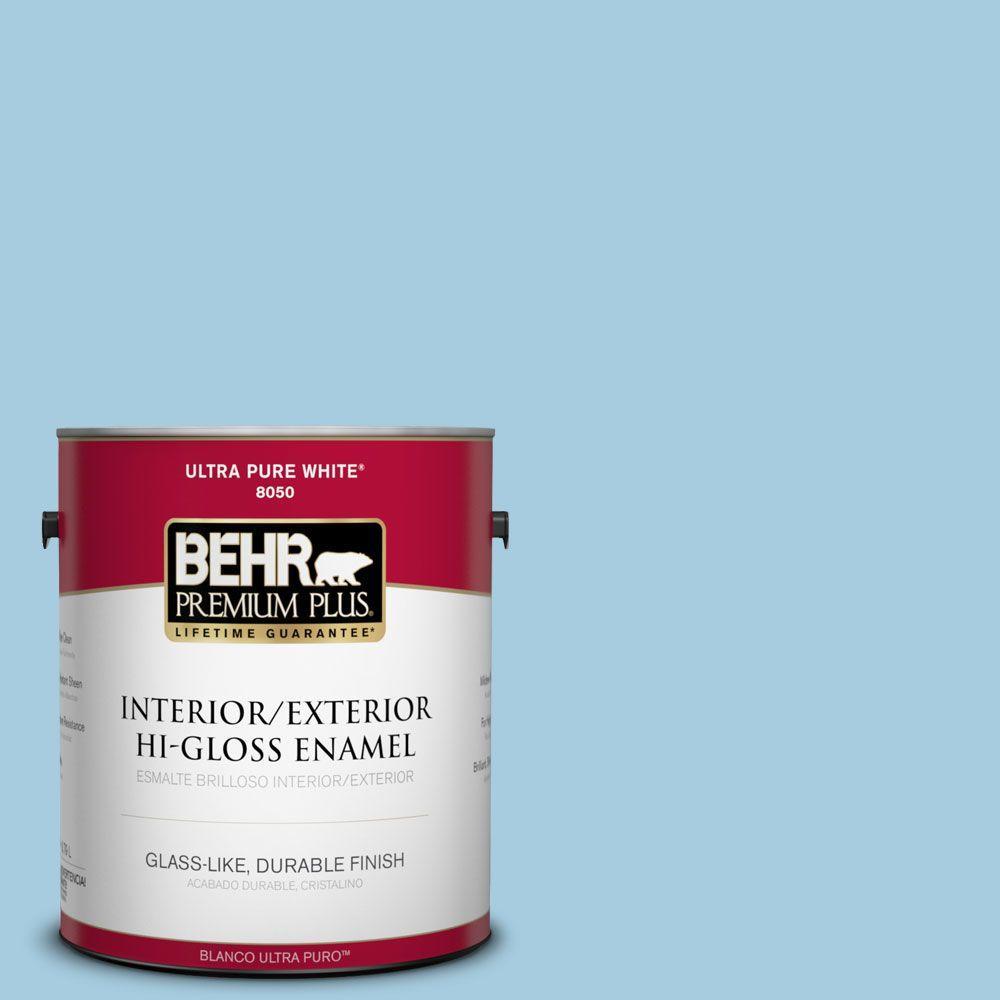 1-gal. #M490-2 Carefree Sky Hi-Gloss Enamel Interior/Exterior Paint