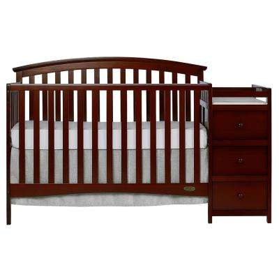 Niko Espresso 5-In-1 Convertible Crib with Changer