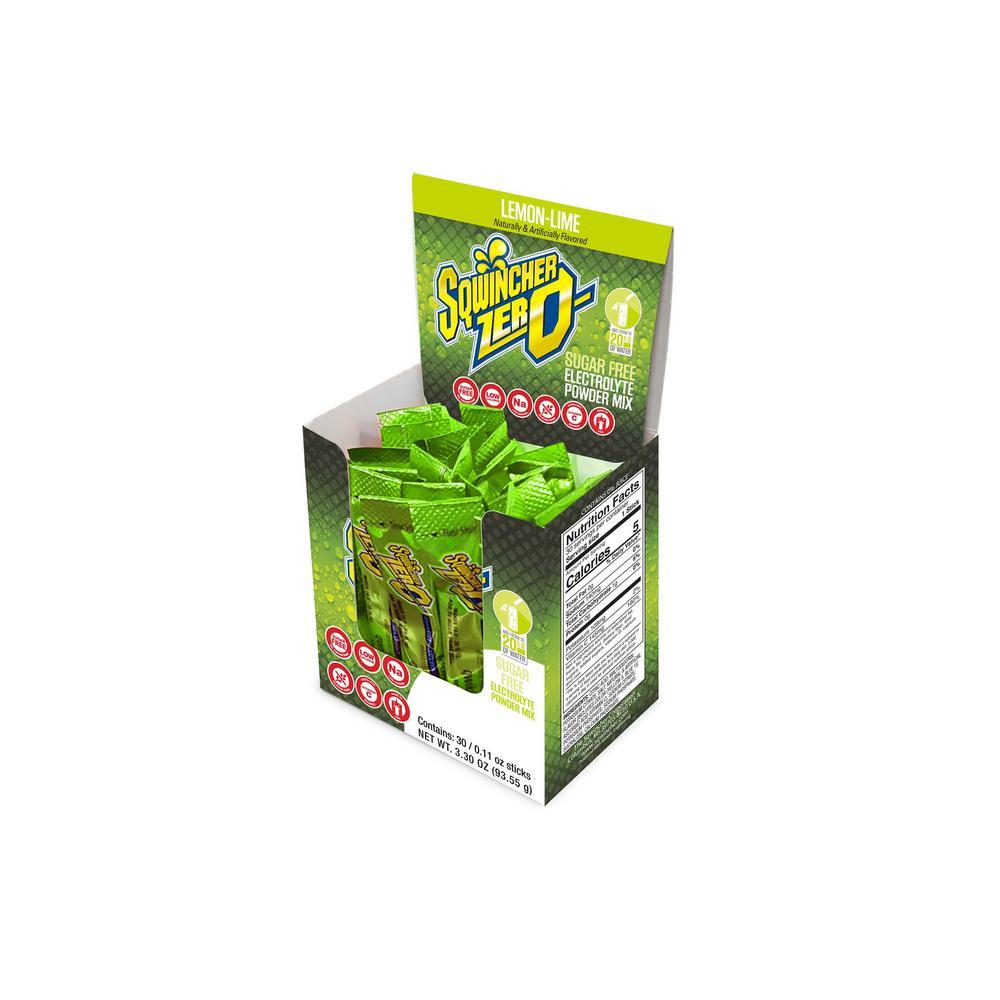 Zero Sugar Qwik Stik Single Serve 0.11 oz. Lemon-Lime Electrolyte Drink Mix Powder (120-Stiks per Case)