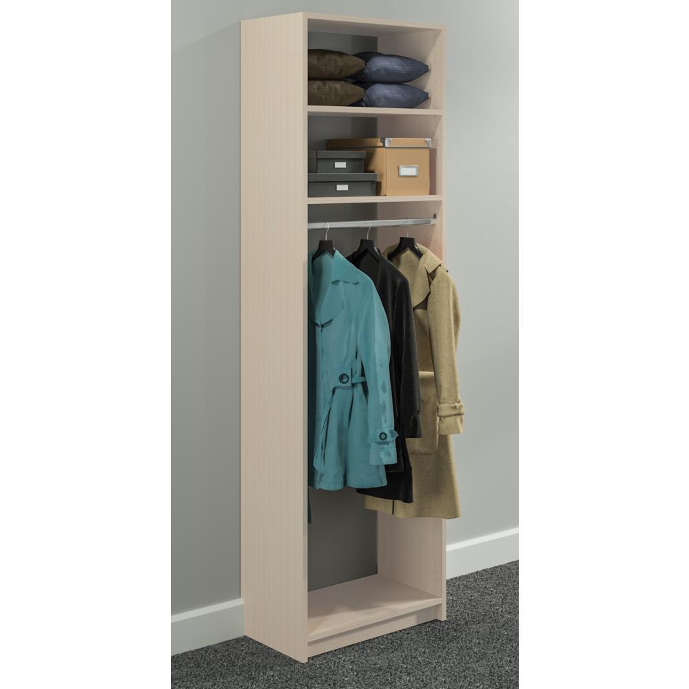 14 in. D x 24 in. W x 84 in. H Chai Latte Wood Medium Hanging Closet System
