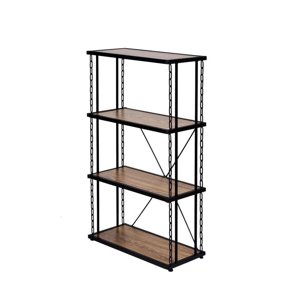 Folsom Ridge Oak 4-Tier Book Shelf