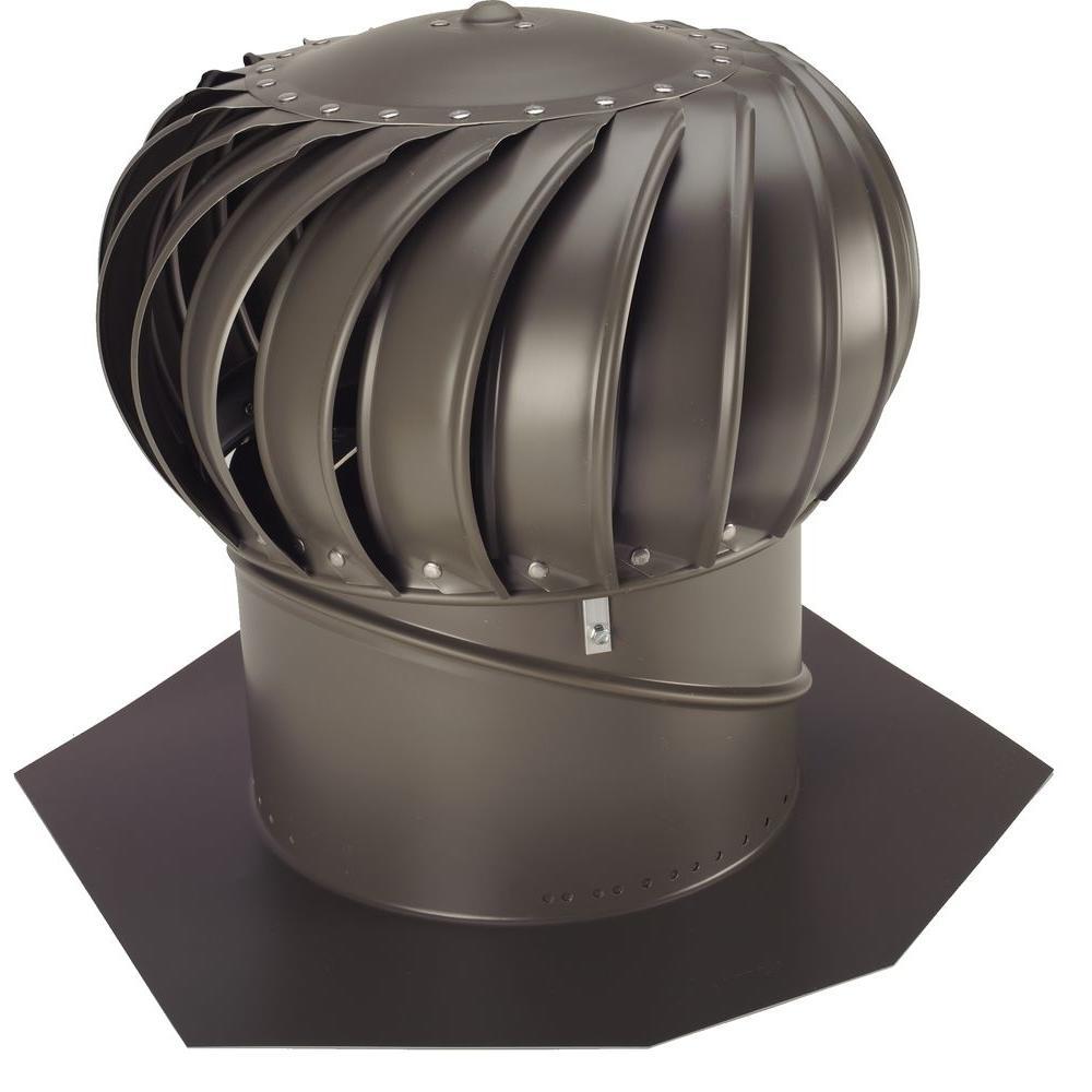 12 in. Weathered Bronze Aluminum Internally Braced Wind Turbine