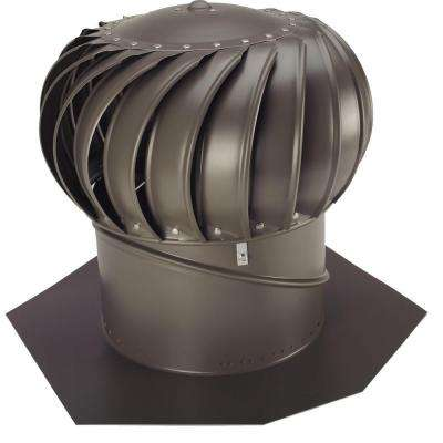 12 in. Weathered Bronze Aluminum Internally Braced Wind Turbine