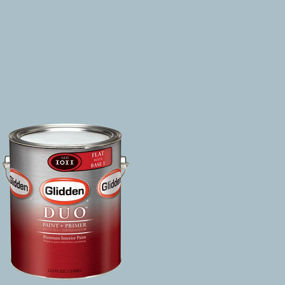 Glidden DUO Martha Stewart Living 1-gal. #MSL150-01F Faded Ink Flat Interior Paint with Primer-DISCONTINUED