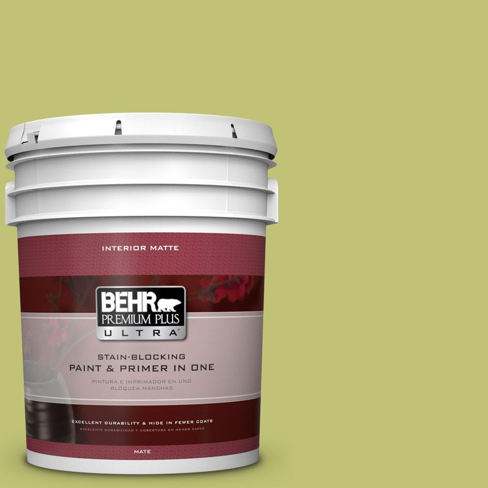 BEHR Premium Plus Ultra 5 gal. #PPU9-7 Fresh Sprout Flat/Matte Interior Paint