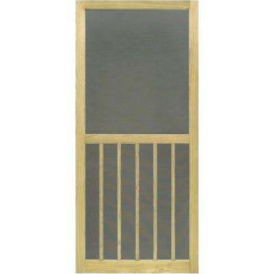 31.75 in. x 79.75 in. Premium 5-Bar Stainable Screen Door