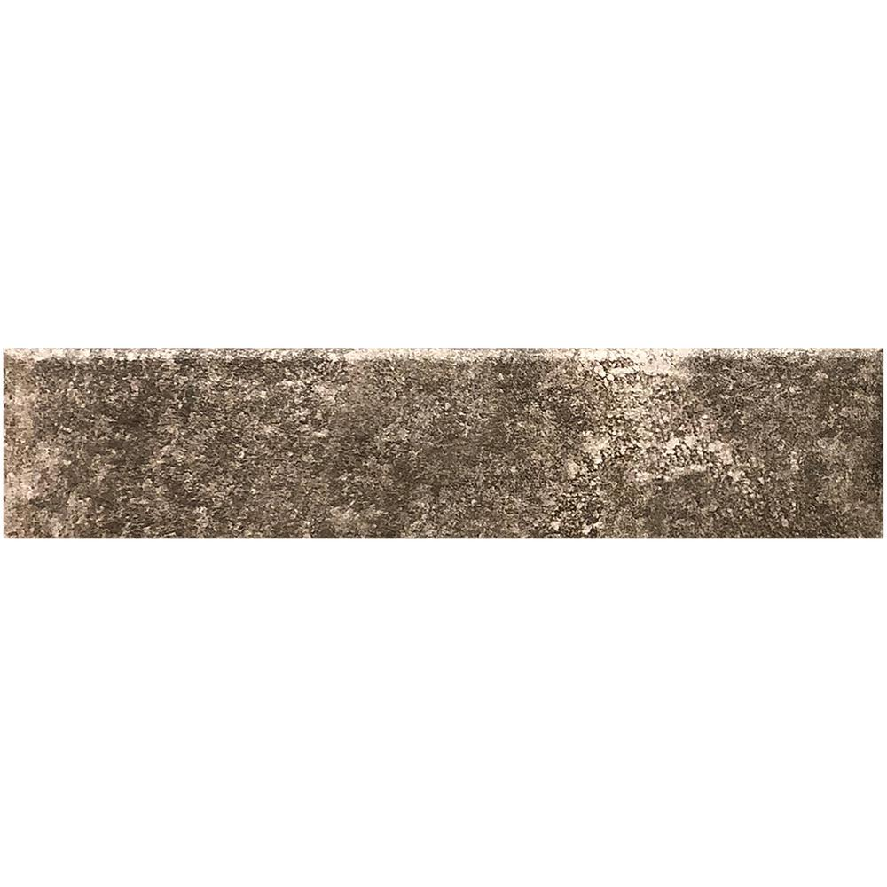 Florida Tile Earthstone Mink 3 in. x 12 in. Porcelain Tile Floor and Wall Bullnose (0.25 sq. ft.)