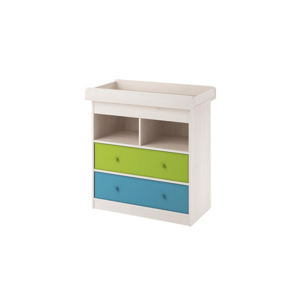 Allison 2-Drawer Light Woodgrain Changing Table