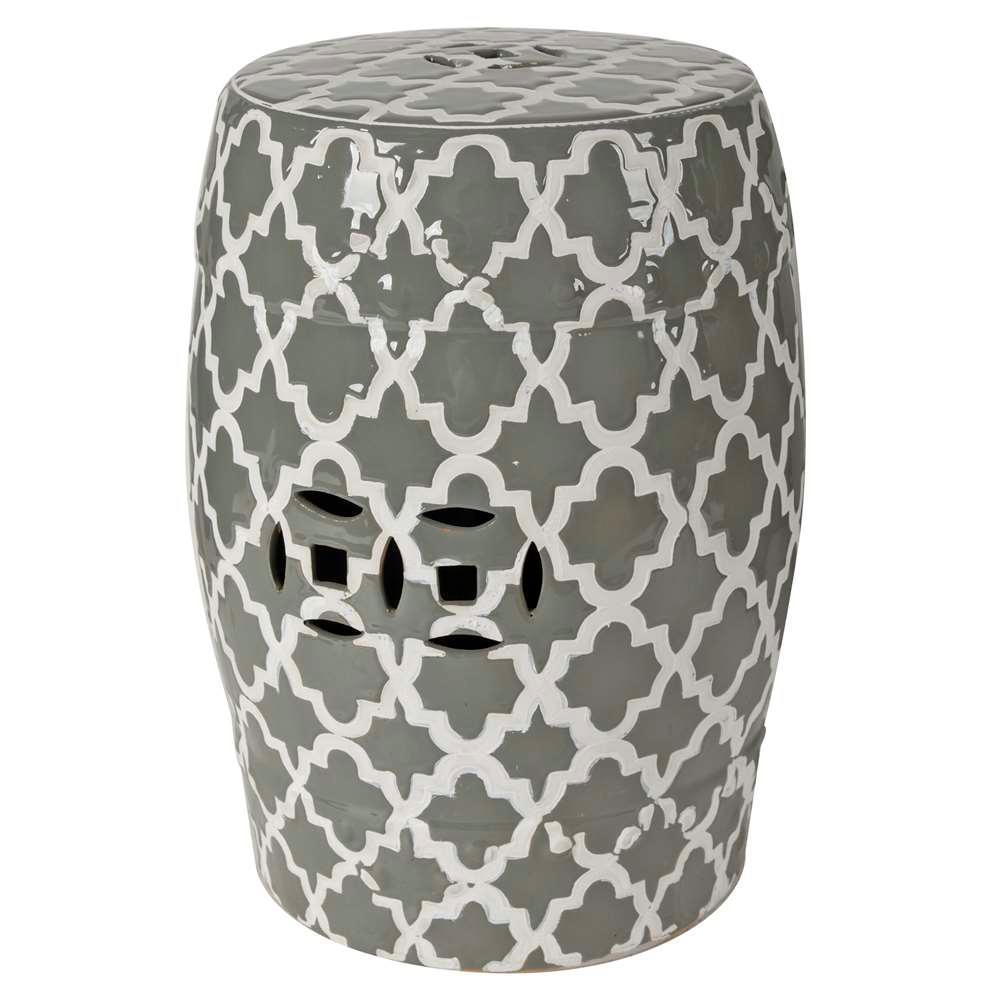 Finley 13 in. x 18 in. Gray Decorative Indoor/Outdoor Vase
