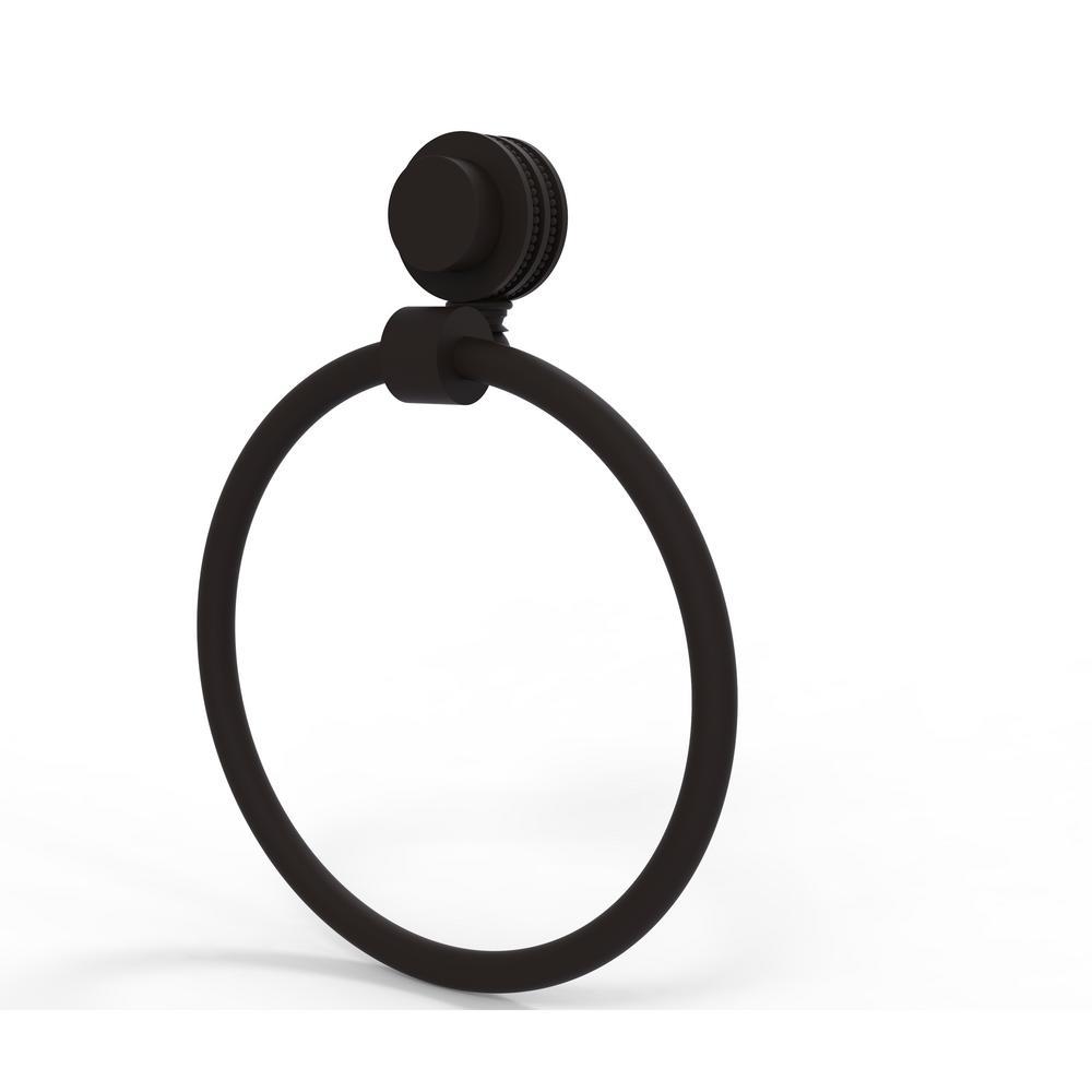Venus Collection Towel Ring with Dotted Accent in Oil Rubbed Bronze