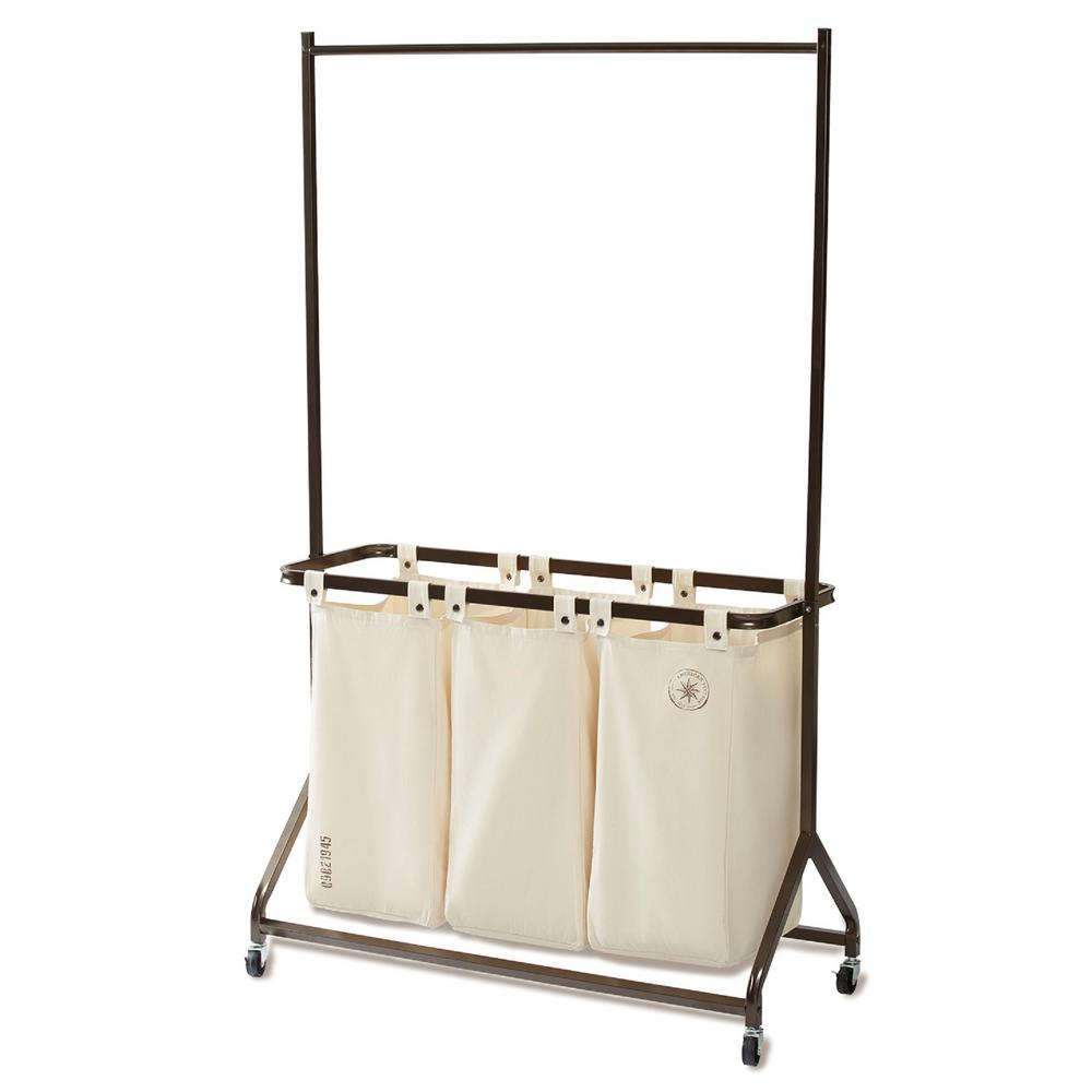 Garment Rack with Canvas Laundry Sorter PDQ