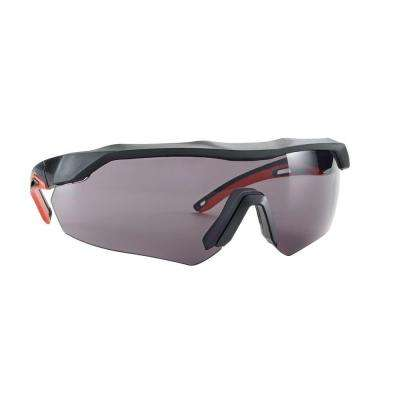 Black with Red Accent Frame and Gray Anti-Fog Lens Performance Safety Glasses with Aerodynamic Design (Case of 4)