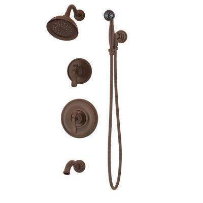 Winslet Single Handle 1 Spray Tub And Shower Faucet With Hand Shower And 60