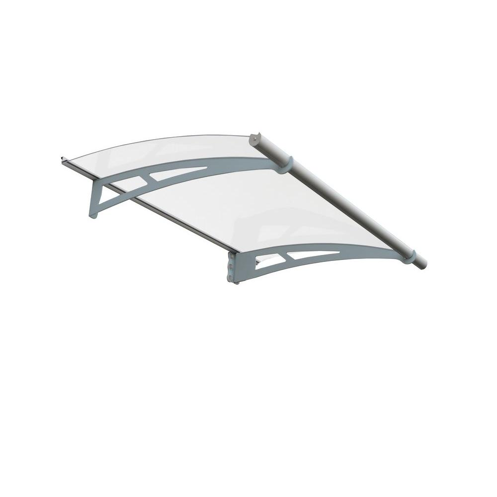 Palram 4 ft. 11 in. Aquila 1500 Awning 6.9 in. H x 3 ft. D Clear
