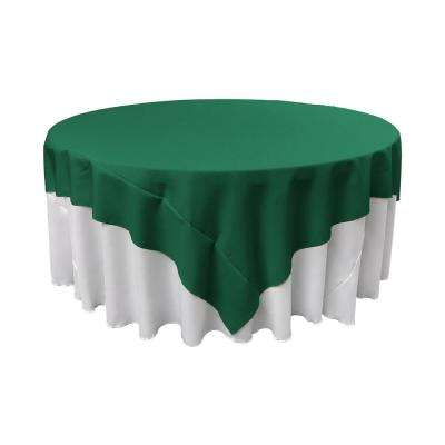 90 in. x 90 in. Teal Polyester Poplin Square Tablecloth