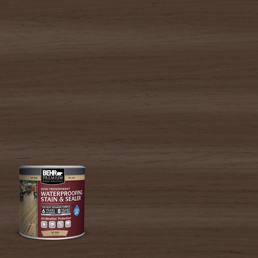8 oz. #ST-111 Wood Chip Semi-Transparent Waterproofing Stain and Sealer Sample