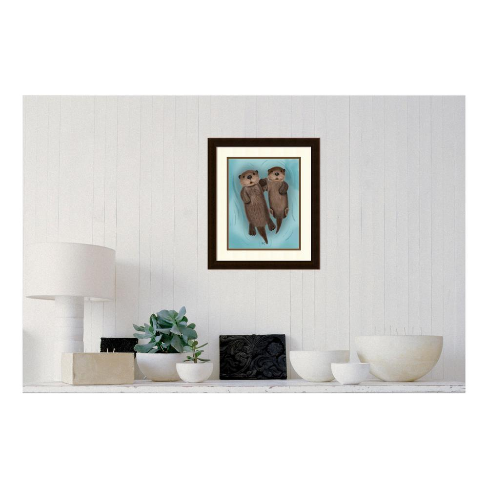 "20 in. H x 17 in. W ""Otters Holding Hands"" by"""