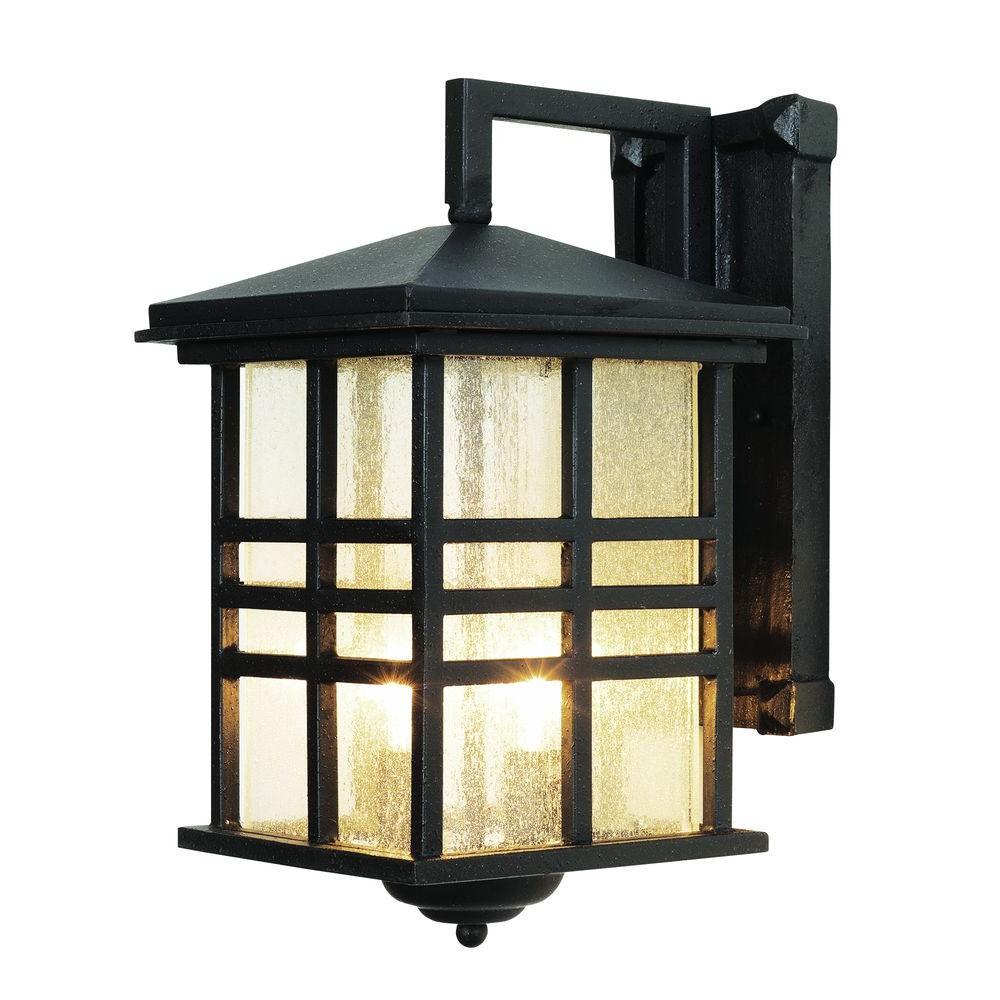 Stewart 2-Light Black Outdoor Incandescent Wall Lantern