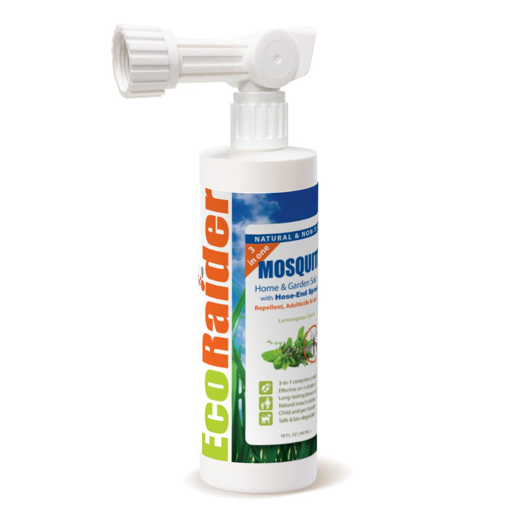 Ecoraider Mosquito Garden Treatment 16 Oz Hose End Spray 3 In 1