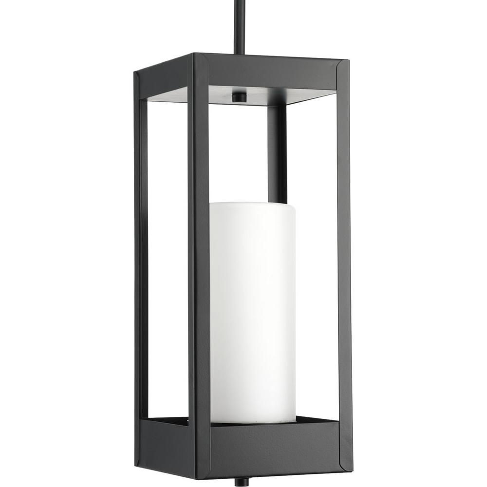 Progress Lighting Patewood Collection Black 1-Light Hanging Lantern