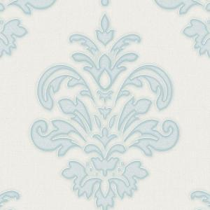 Graham & Brown Duck Egg and White Olana Wallpaper by Graham & Brown