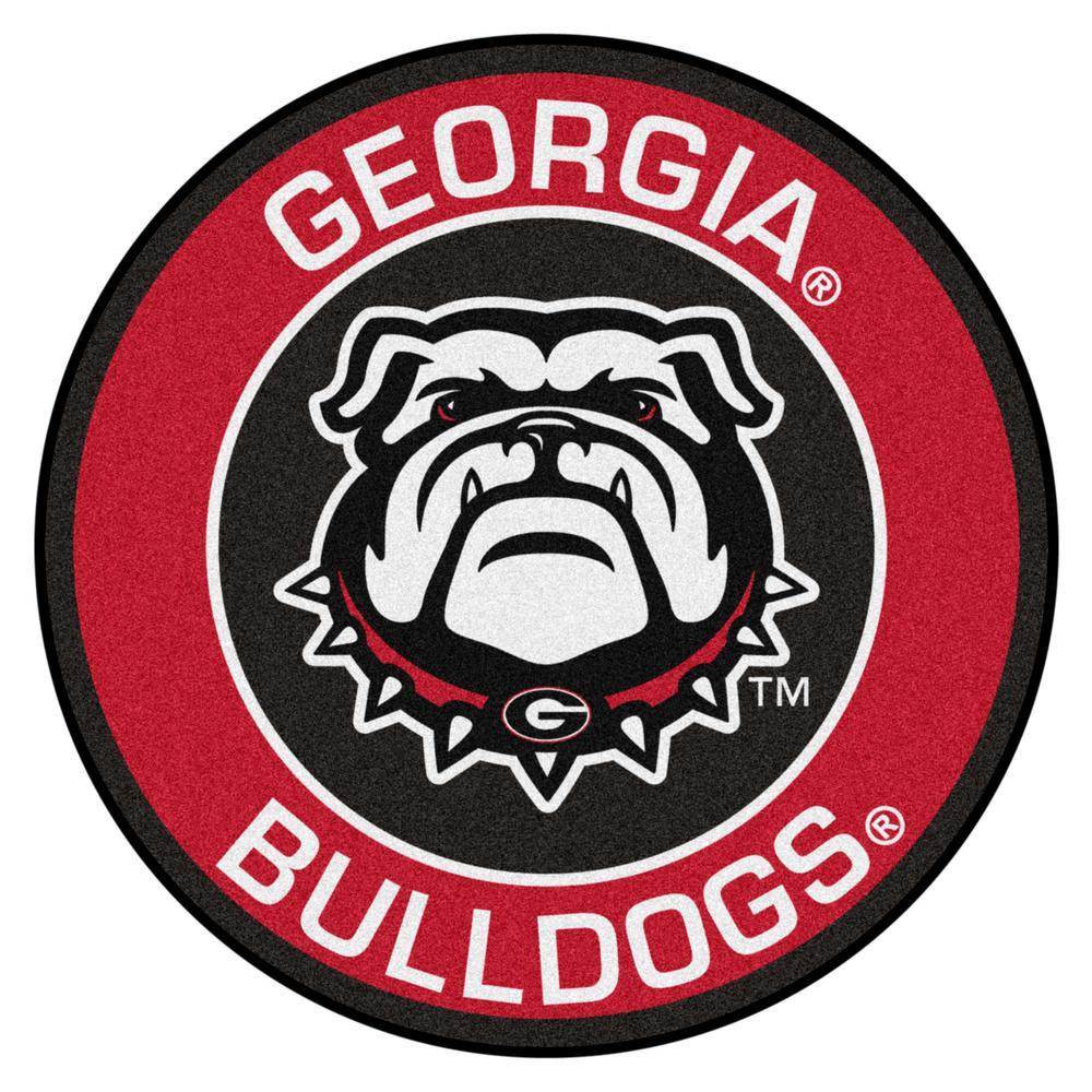 NCAA University of Georgia 27 in. Round Roundel Mat Area Rug
