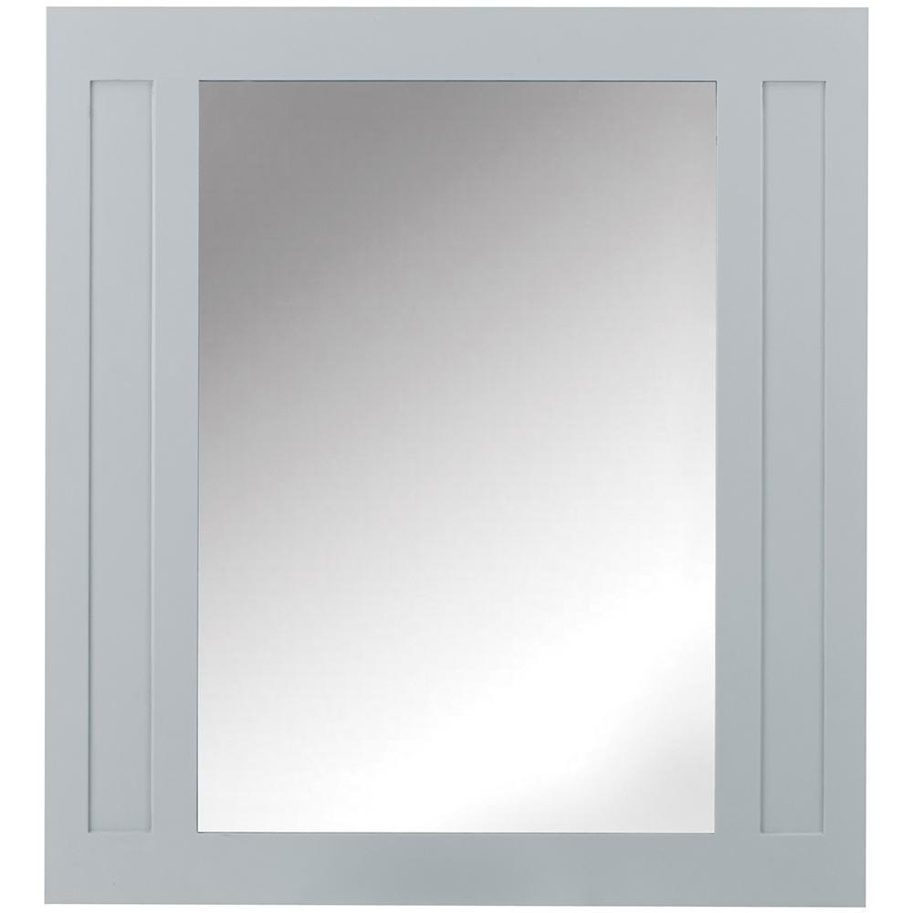 Aberdeen 33 in. W x 36 in. H Wall Mirror in Dove Grey