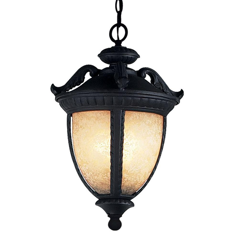 Tulen Lawrence 3-Light Outdoor Black Incandescent Post Light