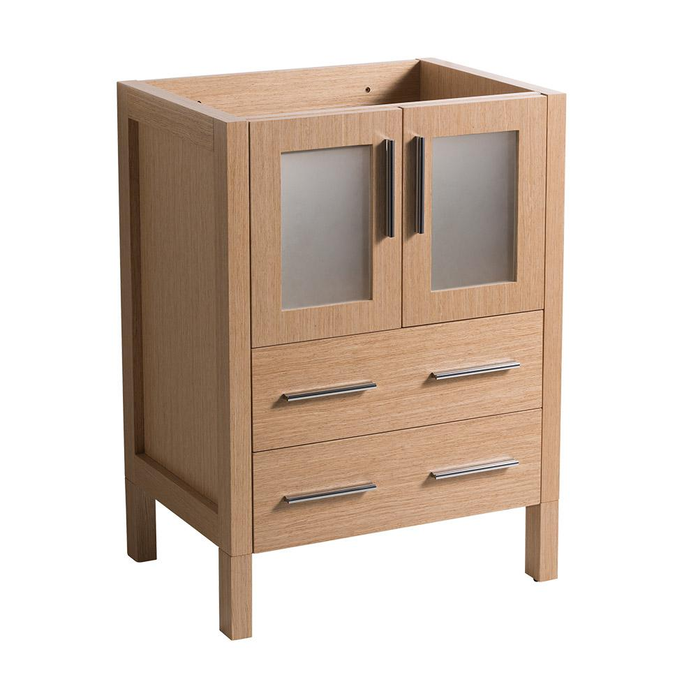 24 in. Torino Modern Bathroom Vanity Cabinet in Light Oak