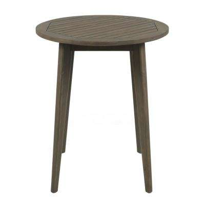 Stamford Gray Round Wood Outdoor Bistro Table