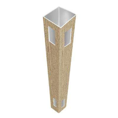 5 in. x 5 in. x 9 ft. Birchwood Vinyl Pre-Routed Fence Corner Post