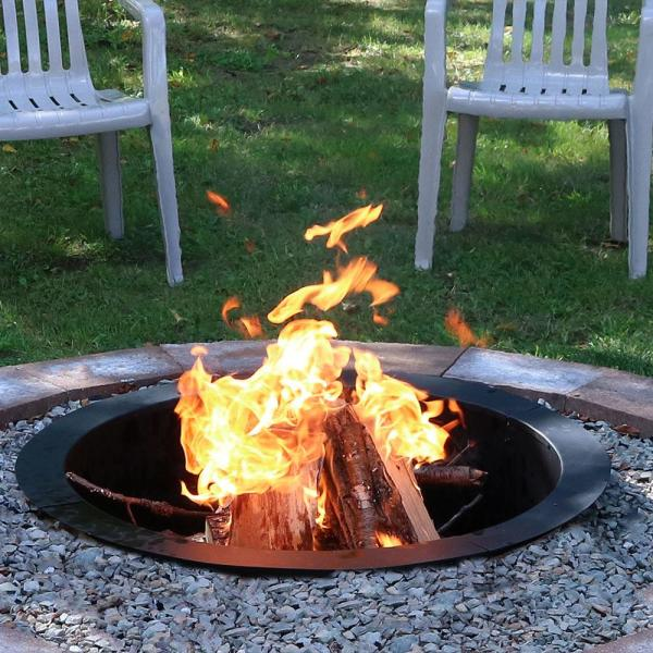 Sunnydaze Decor 39 In Dia X 10 In H Round Steel Wood Burning Fire Pit Ring Liner Nb Fprhd39 The Home Depot