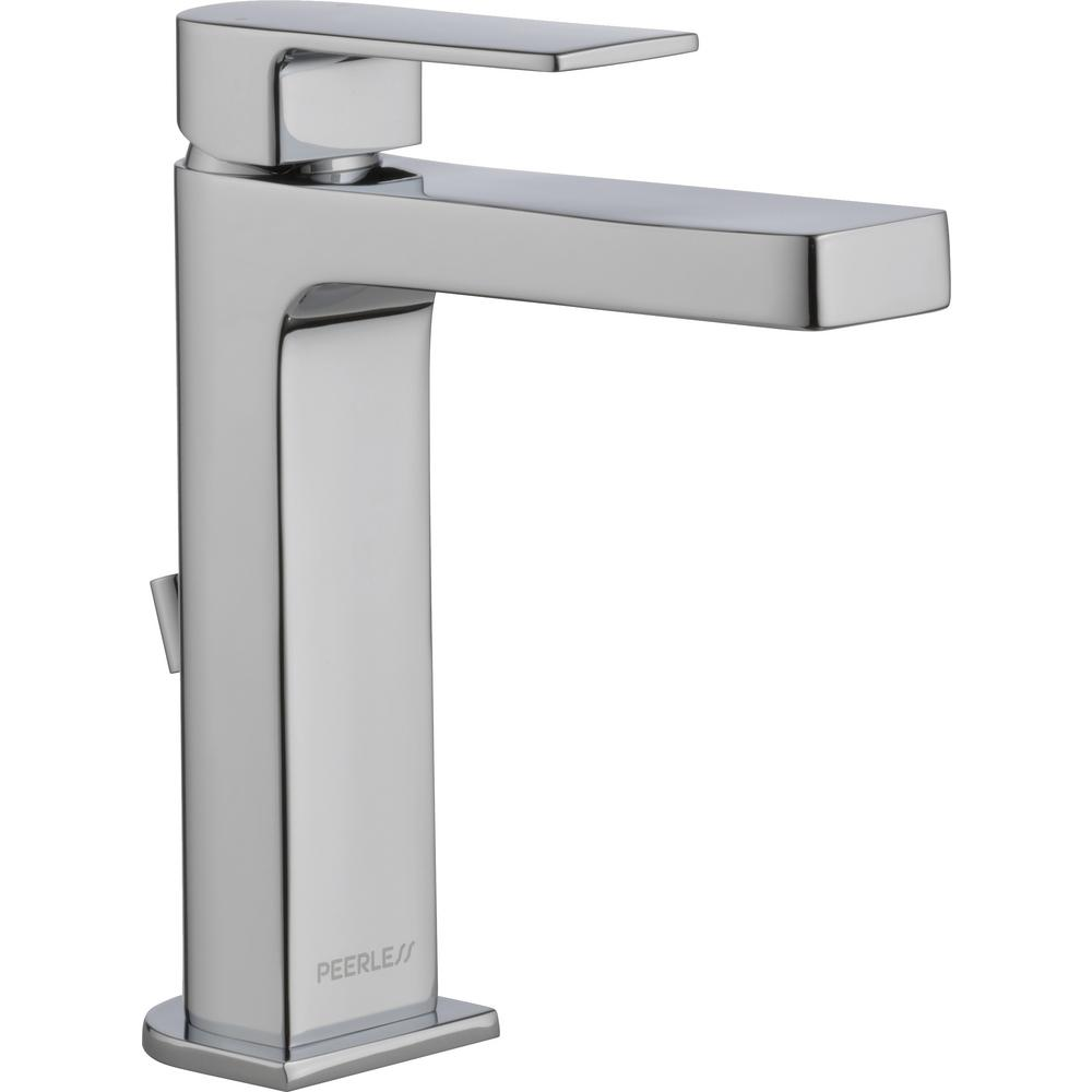 Peerless Xander 4 in. Centerset Single-Handle Bathroom Faucet with Hi-Arc Spout in Chrome