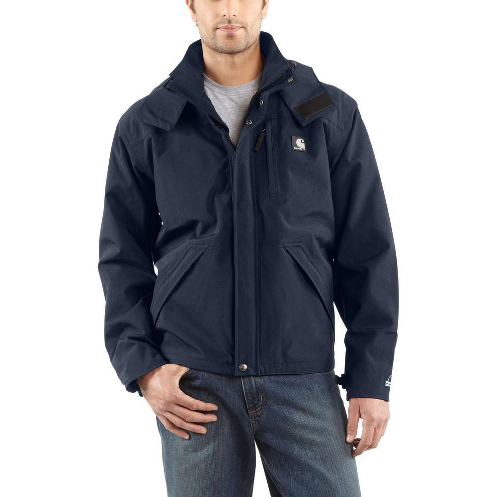 Men's XX-Large Tall Navy Nylon Shoreline Jacket WPB Nylon