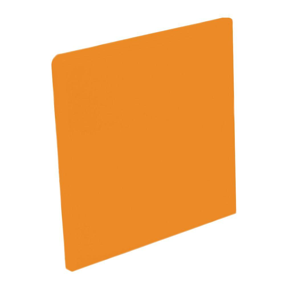 U.S. Ceramic Tile Color Collection Bright Tangerine 4-1/4 in. x 4-1/4 in. Ceramic Surface Bullnose Corner Wall Tile-DISCONTINUED