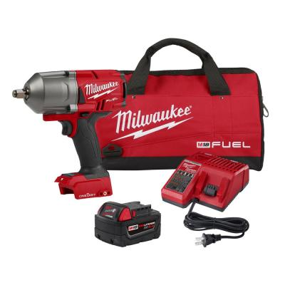 M18 FUEL ONE-KEY 18-Volt Lithium-Ion Brushless Cordless 1/2 in. Impact Wrench w/Friction Ring Kit w/One 5.0Ah Battery
