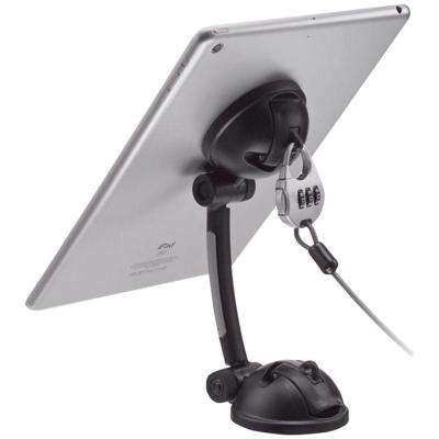 iPad/Tablet/Smartphone Suction Mount Stand with Theft-Deterrent Lock