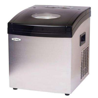 33 lb. Portable Ice Maker in Black Silver