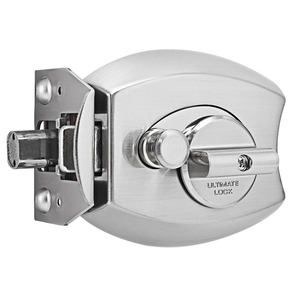 Millennium Lock Satin Nickel Single Cylinder Deadbolt Door