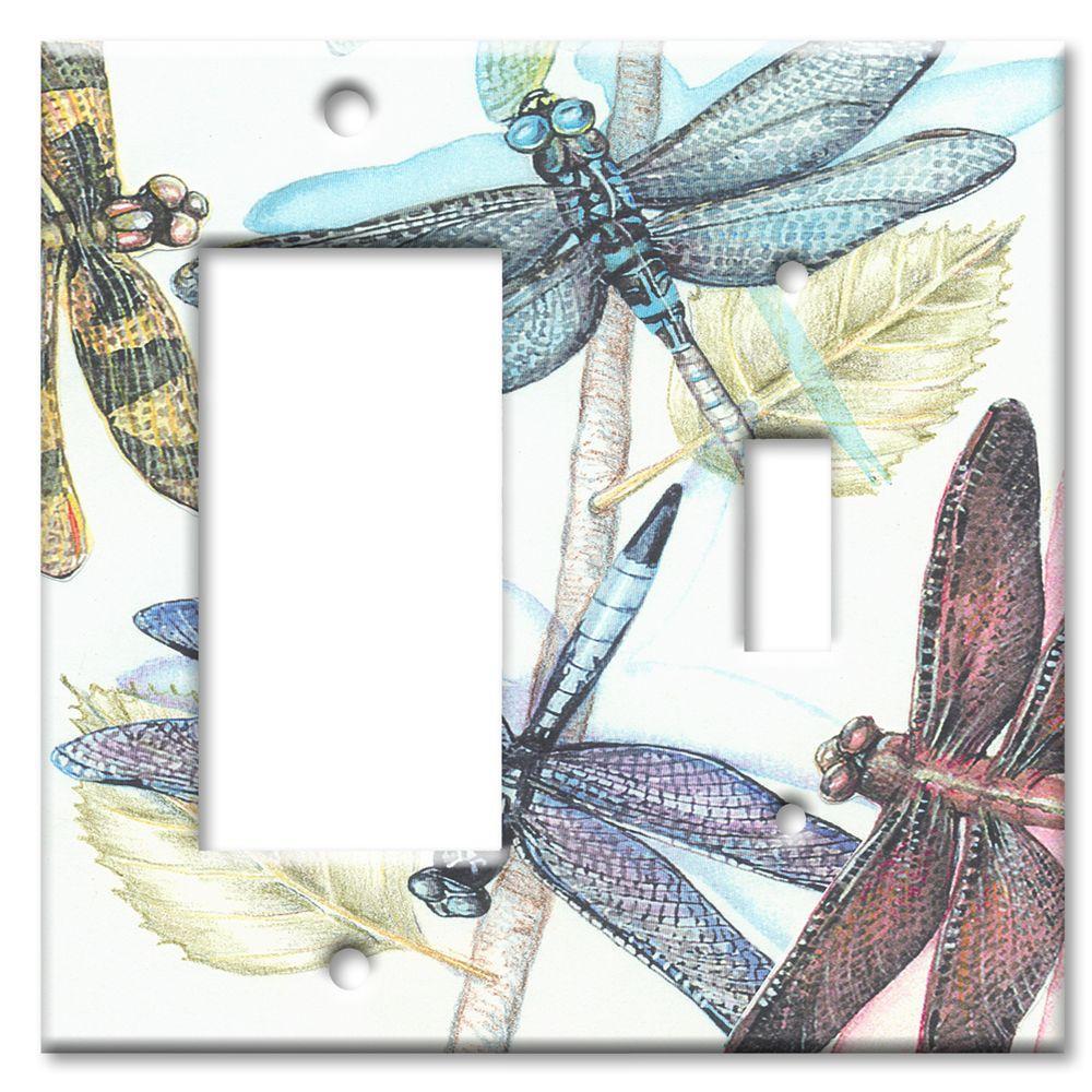 Art Plates Dragonflies Rocker/Switch Combo Wall Plate