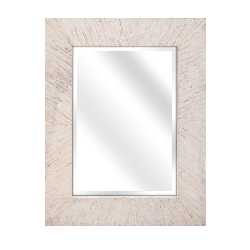 IMAX Ophelia Mother of Pearl Wall Mirror-31141 - The Home Depot