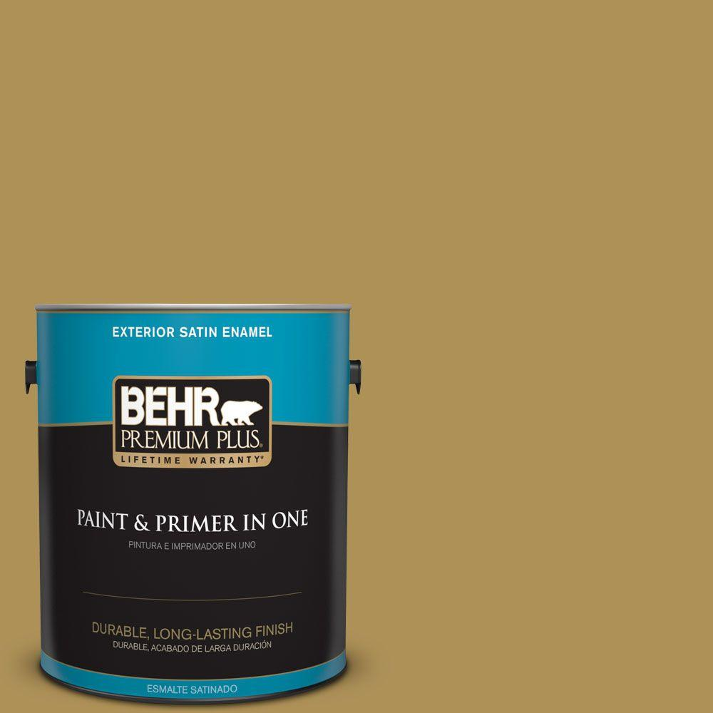 1 gal. #HDC-FL14-7 Asian Pear Satin Enamel Exterior Paint